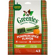 Greenies Pumpkin Spice Flavor Dental Dog Treats, Teenie, 43 count