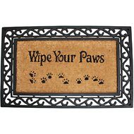 "J & M Home Fashions ""Wipe Your Paws"" Natural Coir and Rubber Doormat, 18 x 30 in."