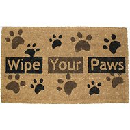 "J & M Home Fashions ""Wipe Your Paws"" Vinyl Back Doormat, 18 x 30 in."