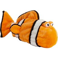 Doggles Plush Bottle Clownfish Dog Toy