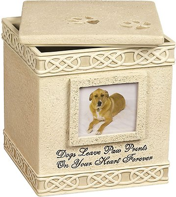 Angelstar Paw Prints Photo Frame Memory Box Dog Urn Chewy Com