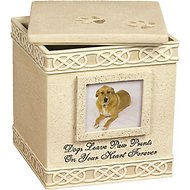 AngelStar Paw Prints Dog Memory Box Urn