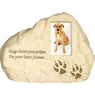 AngelStar Paw Prints Rock Dog Urn