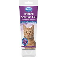 PetAg Hairball Solution Chicken Flavored Gel Cat Supplement, 3.5-oz bottle