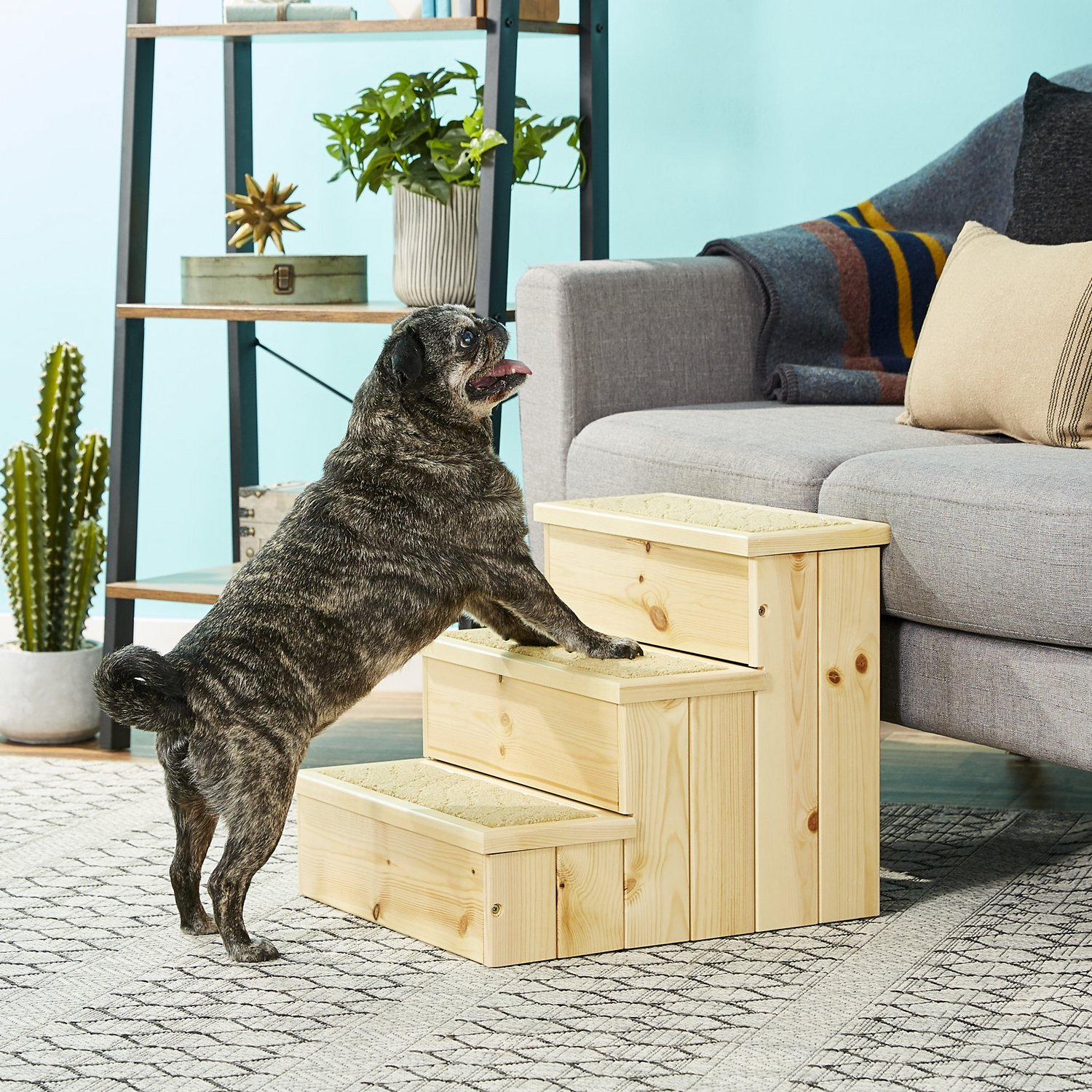 trixie wooden pet stairs natural chewy com rh chewy com small wood stairs small wood staircase