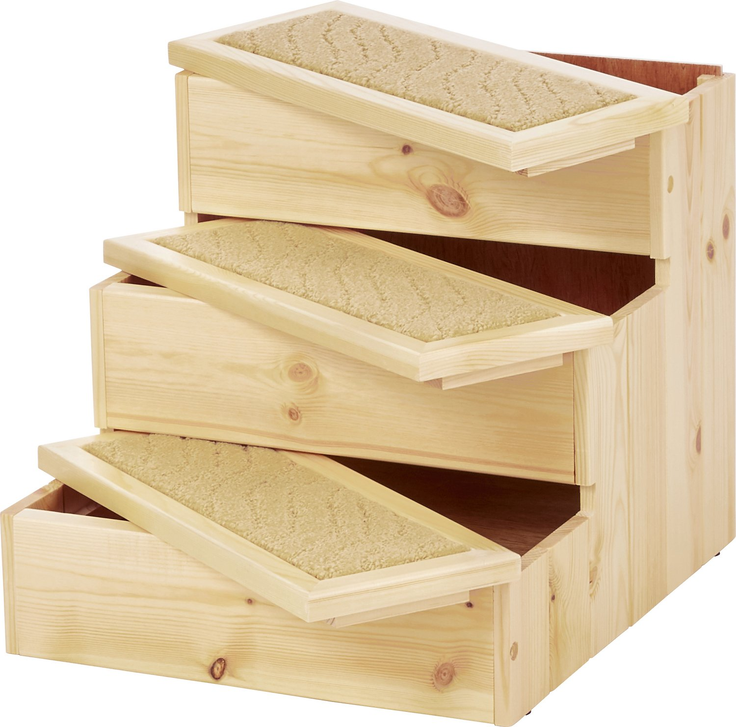 Old Stairs: Trixie Wooden Pet Stairs, Natural