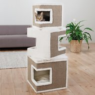 Trixie Lilo Modular 3-Story Cat Tower, White/Brown