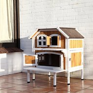 Trixie 2-Story Cat Cottage, Brown/White