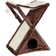 Trixie Miguel Fold-and-Store Cat Tower, Brown/Beige