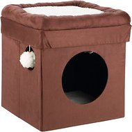 Trixie Miguel Fold-and-Store Collapsible Cat Condo, Brown