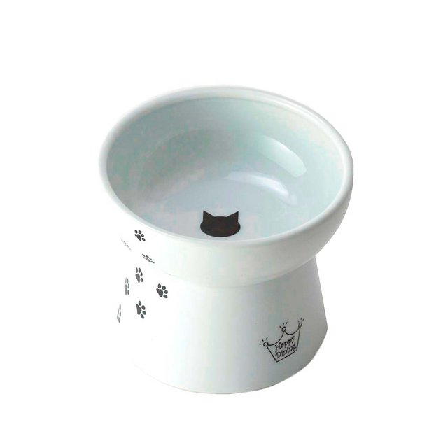 1. Necoichi Raised Stress-Free Cat Food Bowl
