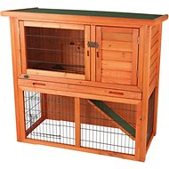 Trixie Natura Rabbit Hutch With Sloped Roof, Glazed Pine, Small