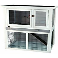 Trixie Natura Rabbit Hutch With Sloped Roof, Gray, Medium