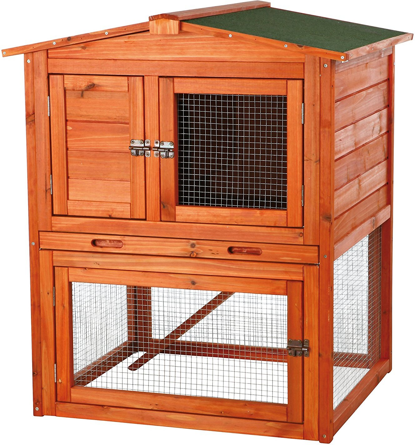 products story rabbit natural v cage hutch trixie two