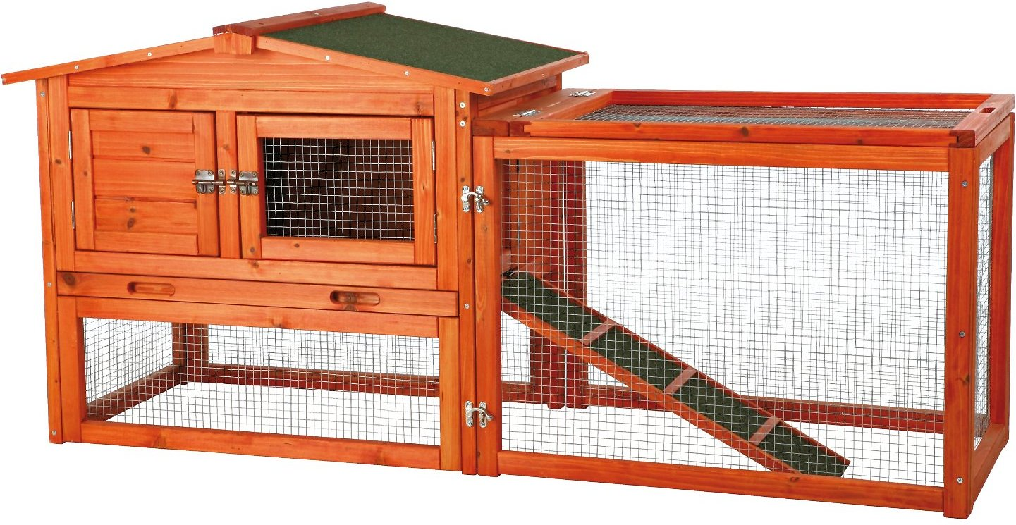 Trixie Small Animal Hutch with Outdoor Run, X-Small