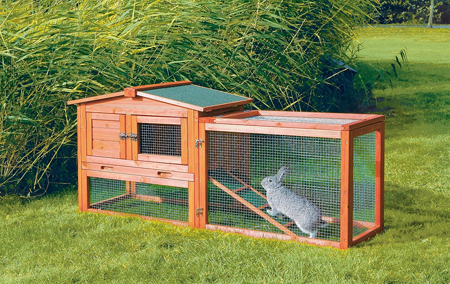 Trixie Small Animal Hutch With Outdoor Run X Small