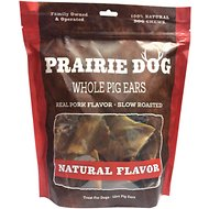Prairie Dog Smoked Pig Ears, 12 count