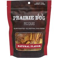 Prairie Dog Smoked Pig Ears, 20 count