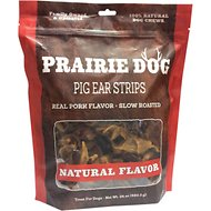 Prairie Dog Smoked Pig Ear Slices, 24-oz