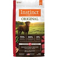Instinct by Nature's Variety Original Grain-Free Recipe with Real Beef Dry Dog Food, 4-lb bag