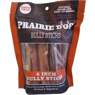 "Prairie Dog Odor Free 6"" Bully Stick Dog Treat, 25 count"