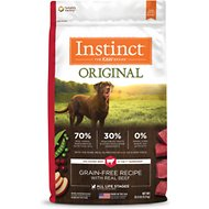 Nature's Variety Instinct Grain-Free Beef & Lamb Meal Formula Dry Dog Food, 20-lb bag