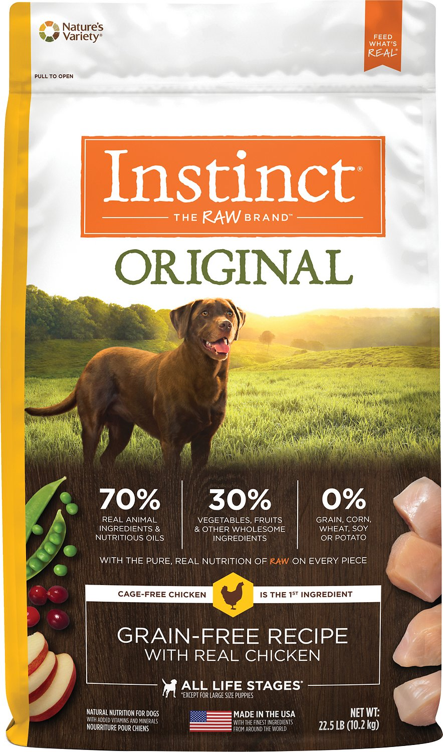 Nature's Variety Instinct Grain-Free Dry Dog Food for Liver Disease