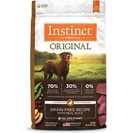 Nature's Variety Instinct Grain-Free Duck & Turkey Meal Formula Dry Dog Food, 20-lb bag