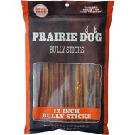 "Prairie Dog Odor Free 12"" Bully Sticks Dog Treat, 12 count"
