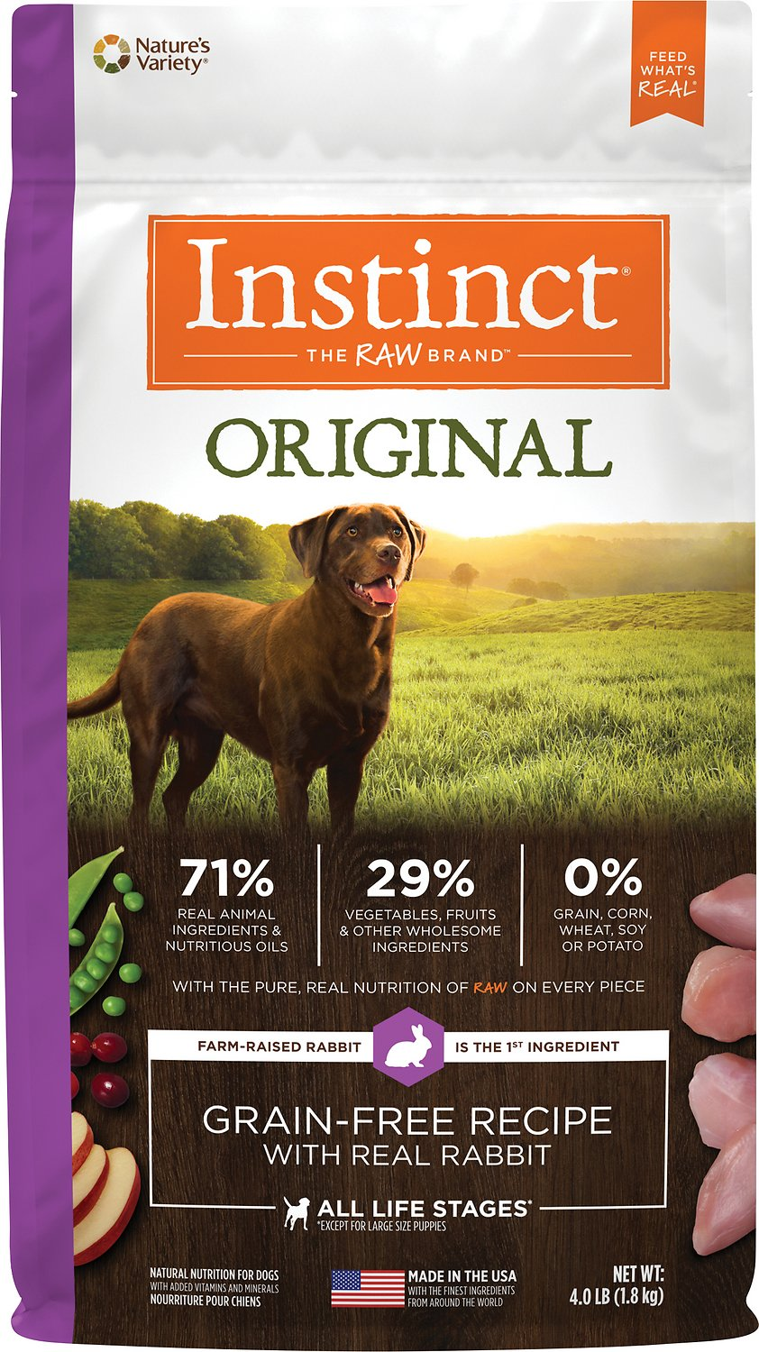 Instinct Original Real Rabbit Raw Coated