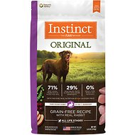 Instinct by Nature's Variety Original Grain-Free Recipe with Real Rabbit Dry Dog Food, 4-lb bag