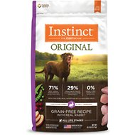 Instinct by Nature's Variety Original Grain-Free Rabbit Meal Recipe Dry Dog Food, 20-lb bag