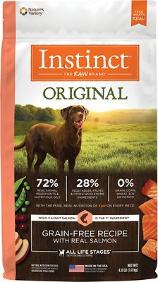9. Instinct Original Grain-Free Recipe Dried Raw Coated Dry Dog Food