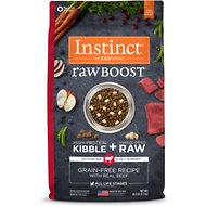 Instinct by Nature's Variety Raw Boost Grain-Free Beef & Lamb Meal Formula Dry Dog Food, 20-lb bag