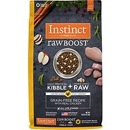 Instinct Raw Boost Grain-Free Recipe with Real Chicken & Freeze-Dried Raw Pieces Dry Dog Food, 10-lb bag