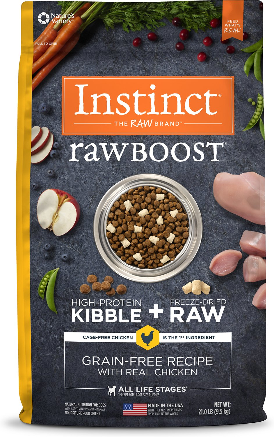 Instinct By Natures Variety Raw Boost Grain Free Recipe With Real