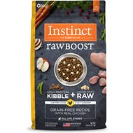 Instinct by Nature's Variety Raw Boost Grain-Free Chicken Meal Formula Dry Dog Food, 21-lb bag