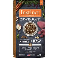 Instinct by Nature's Variety Raw Boost Grain-Free Recipe with Real Duck Dry Dog Food, 4-lb bag