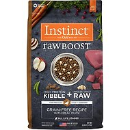 Instinct by Nature's Variety Raw Boost Grain-Free Duck & Turkey Meal Formula Dry Dog Food, 20-lb bag