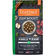 Instinct by Nature's Variety Raw Boost Grain-Free Recipe with Real Lamb Dry Dog Food, 4-lb bag