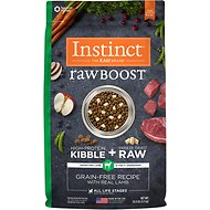 Instinct by Nature's Variety Raw Boost Grain-Free Lamb & Salmon Meal Formula Dry Dog Food, 20-lb bag