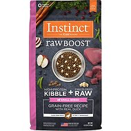 Nature's Variety Instinct Raw Boost Grain-Free Duck Formula Small Breed Dry Dog Food, 4-lb bag