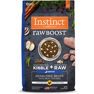 Instinct by Nature's Variety Raw Boost Grain-Free Senior Chicken Meal Formula Dry Dog Food, 21-lb bag