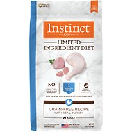 Instinct by Nature's Variety Limited Ingredient Diet Grain-Free Recipe with Real Turkey Dry Dog Food, 4-lb bag