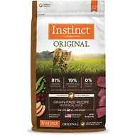 Instinct by Nature's Variety Original Grain-Free Recipe with Real Duck Dry Cat Food, 10-lb bag