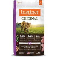 Instinct by Nature's Variety Original Grain-Free Recipe with Real Rabbit Dry Cat Food, 4.5-lb bag