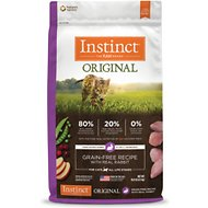 Nature's Variety Instinct Grain-Free Rabbit Meal Formula Dry Cat Food, 10-lb bag
