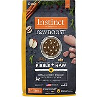 Nature's Variety Instinct Raw Boost Grain-Free Chicken Meal Formula Dry Cat Food, 10-lb bag