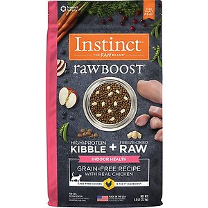 nstinct Raw Boost Indoor Grain-Free Recipe with Real Chicken & Freeze-Dried Raw Coated Pieces Dry Cat Food