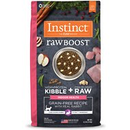 Instinct by Nature's Variety Raw Boost Indoor Grain-Free Recipe with Real Rabbit Dry Cat Food, 4.5-lb bag